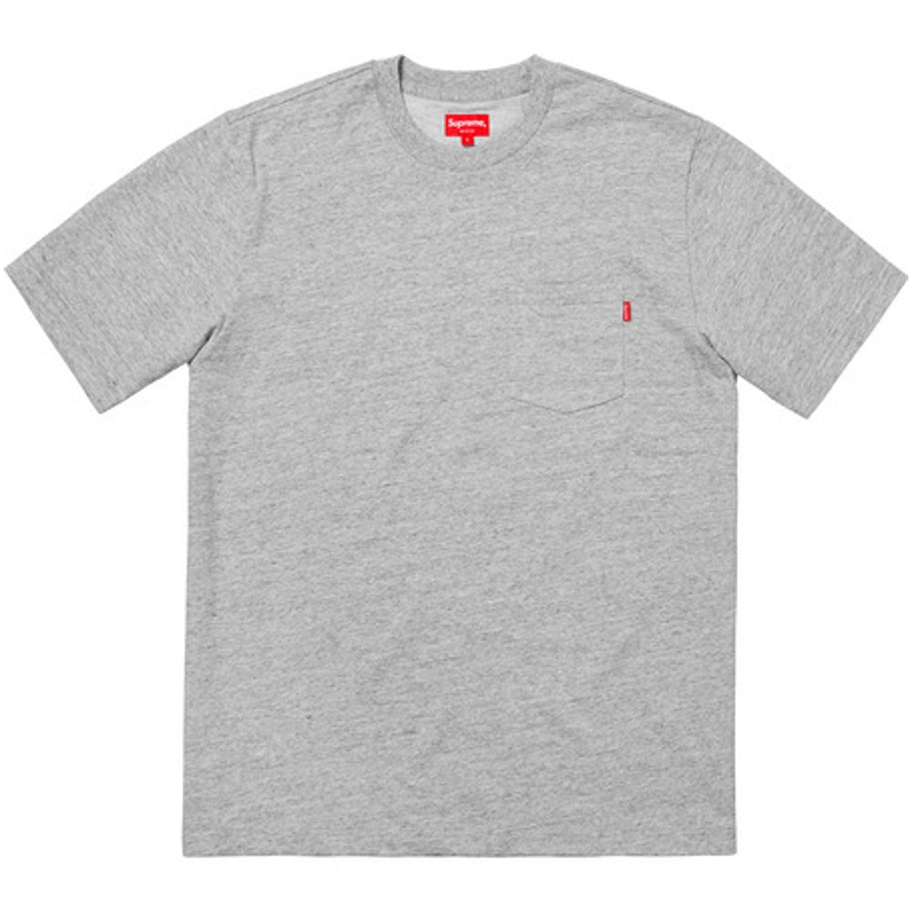SUPREME S/S POCKET TEE -GREY