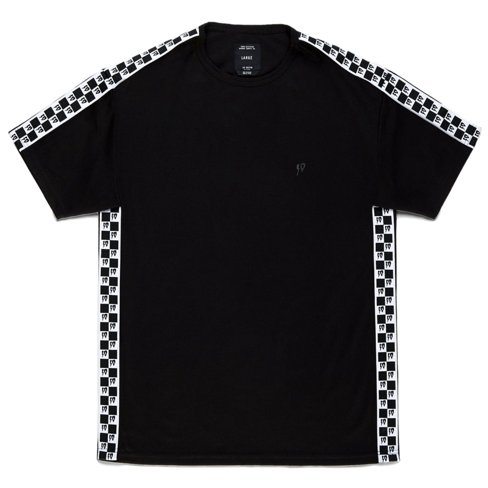 10Deep CHECK TAPE SHIRT -BLACK