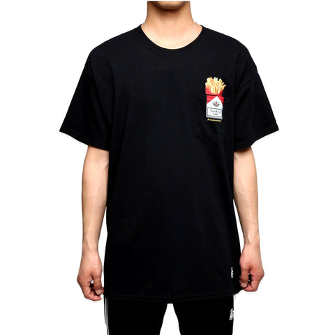 FUCKING RABBIT LOVE & HATE POCKET TEE -BLACK