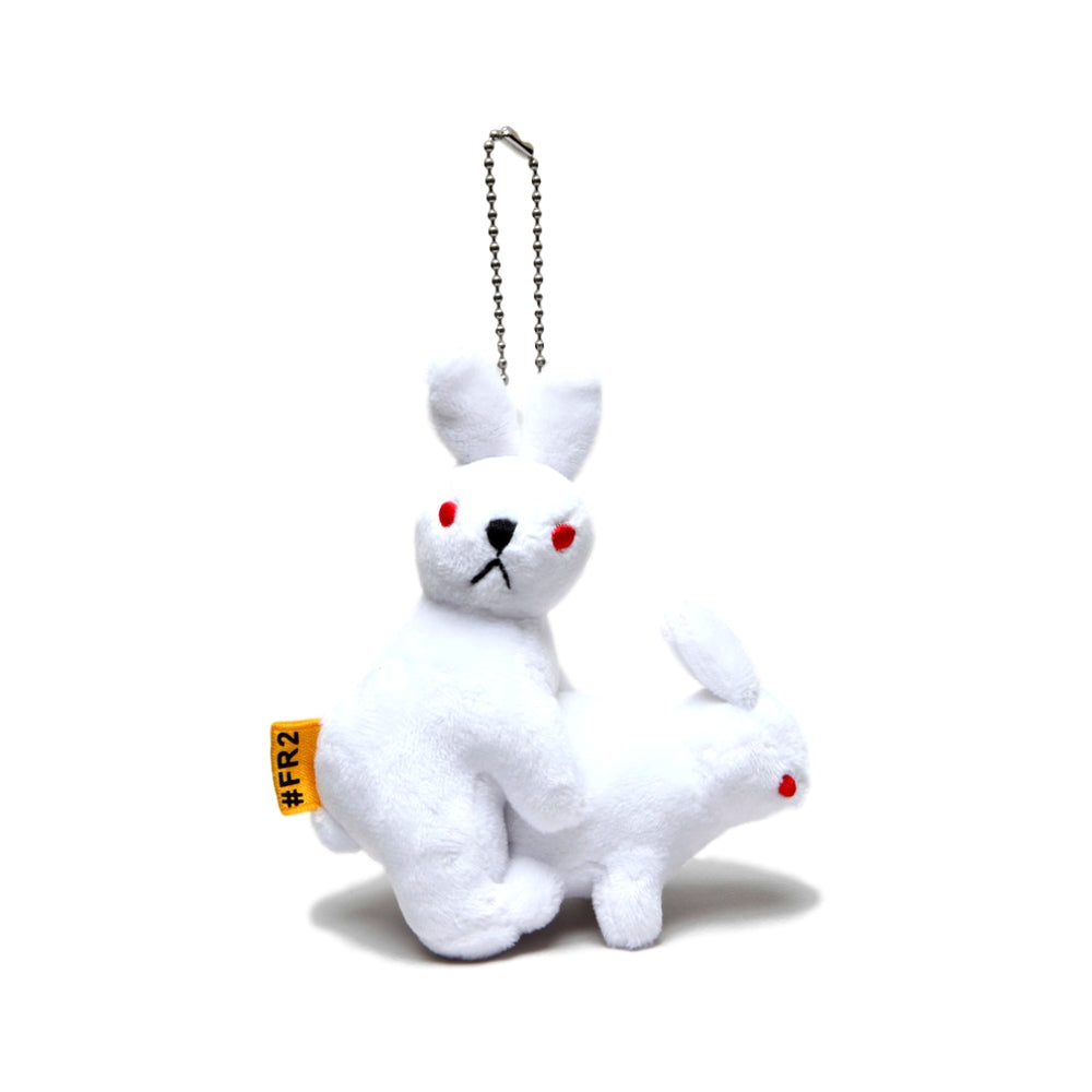 FUCKING RABBIT RABBITS DOLL KEY CHAIN -WHITE