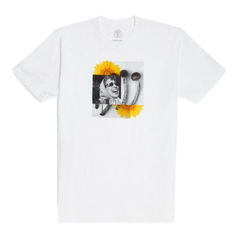 GOOD WORTH MUSHROOM TEE -WHITE