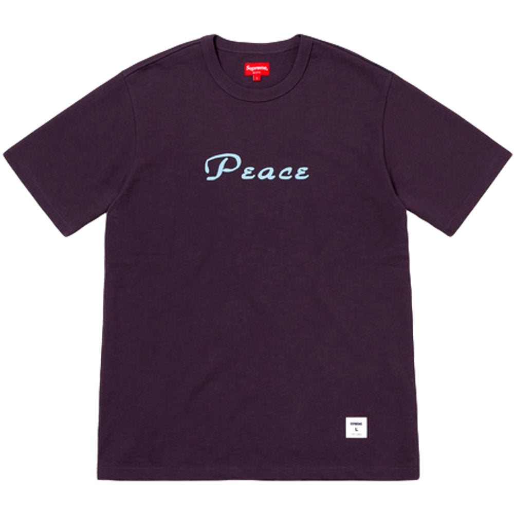 SUPREME PEACE S/S TOP -PURPLE