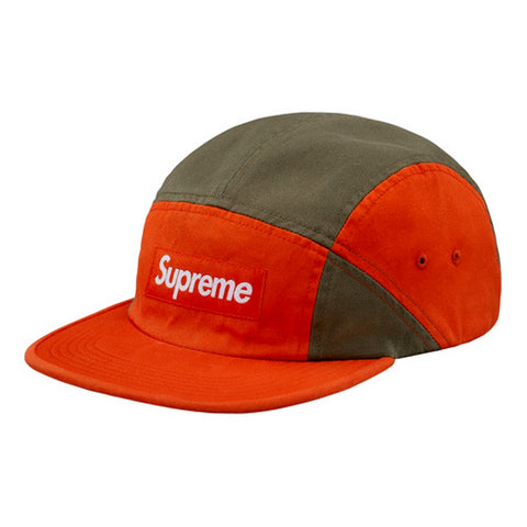 SUPREME CONTRAST PANEL CAMP CAP -ORANGE