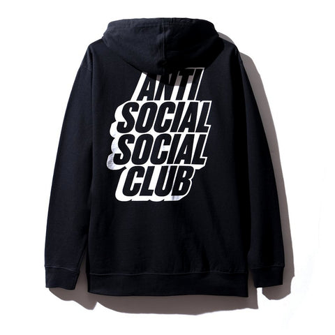 AntiSocialSocialClub BLOCKED BLACK HOODY -BLACK