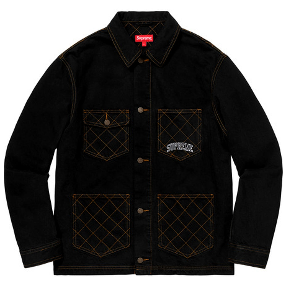SUPREME DIA STITCH DNM CHORE CT -BLACK