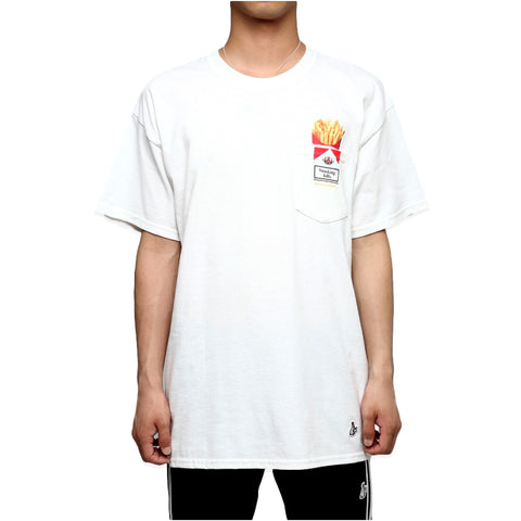 FUCKING RABBIT LOVE & HATE POCKET TEE -WHITE