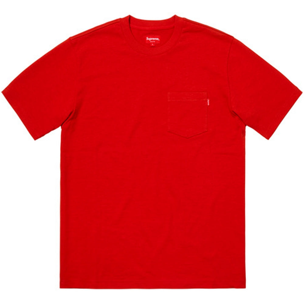 SUPREME S/S POCKET TEE -RED