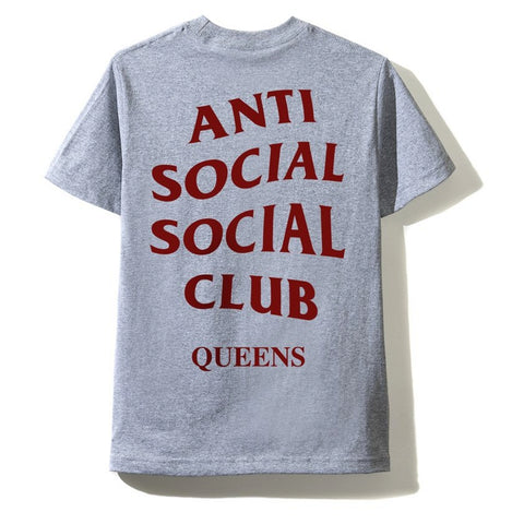 AntiSocialSocialClub CITY TEE - QUEENS -GREY