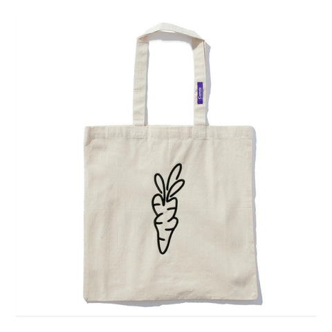 CARROTS TOTE -WHITE