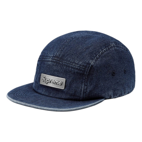 SUPREME METAL PLATE CAMP CAP -INDIGO