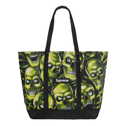 SUPREME SKULL PILE DENIM TOTE -MULTI