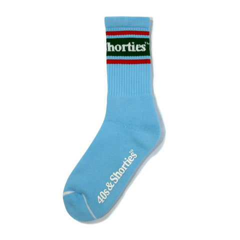 40'S AND SHORTIES TEXT LOGO SOCKS -LIGHT BLUE