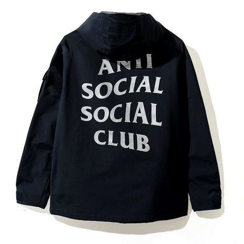 AntiSocialSocialClub NAVY SEALS JACKET -NAVY