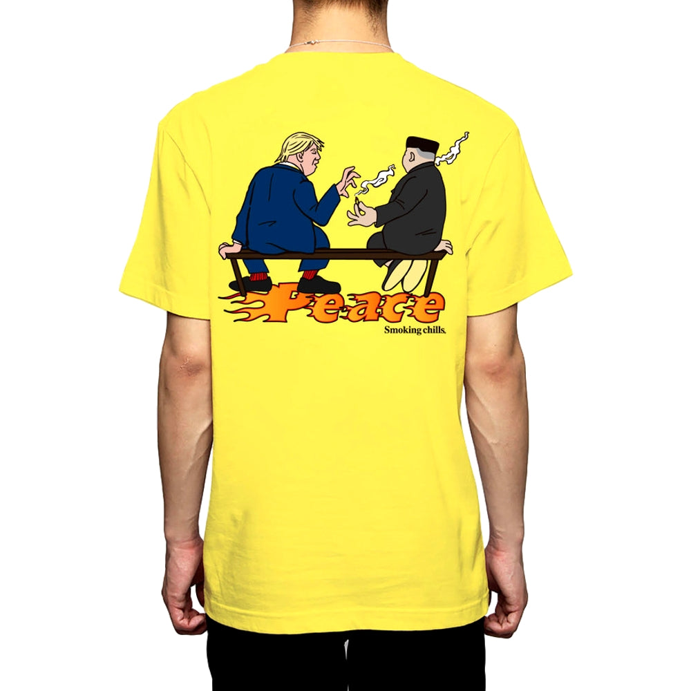 FUCKING RABBIT THE NEW PEACE DAY TEE -YELLOW