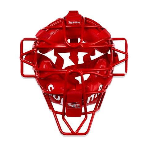 SUPREME RAWLINGS CATCHER'S MASK -RED