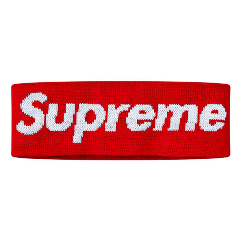 SUPREME NEW ERA BIG LOGO HEADBAND -RED