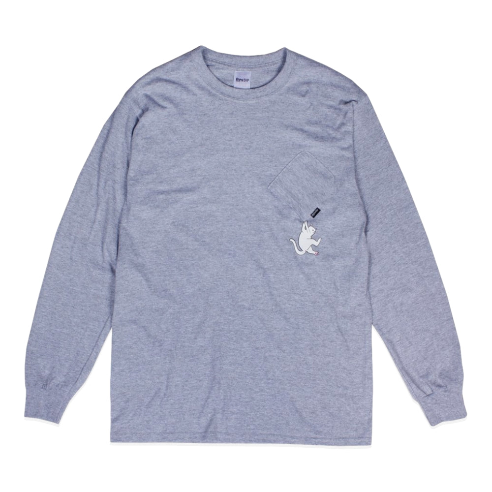 RipNDip HANG IN THERE L/S -GREY