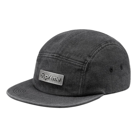 SUPREME METAL PLATE CAMP CAP -BLACK