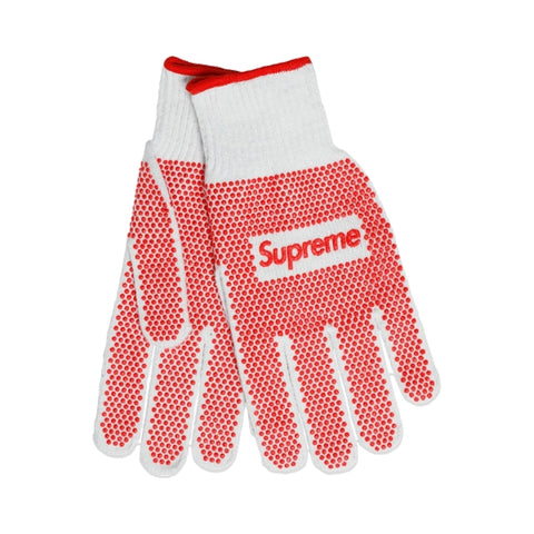 SUPREME GRIP WORK GLOVES -RED