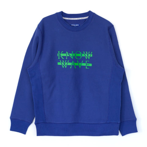 KNOW WAVE KNOCKOUT CREWNECK -ROYAL