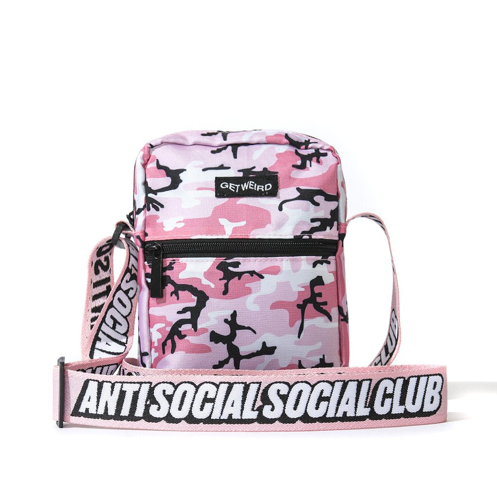 acb8127b0a5b AntiSocialSocialClub PINK CAMO SIDE BAG -PINK. Images   1   2