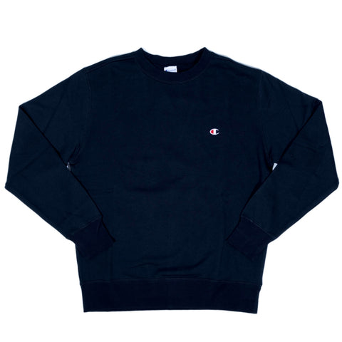 CHAMPION SMALL LOGO CREWNECK -NAVY