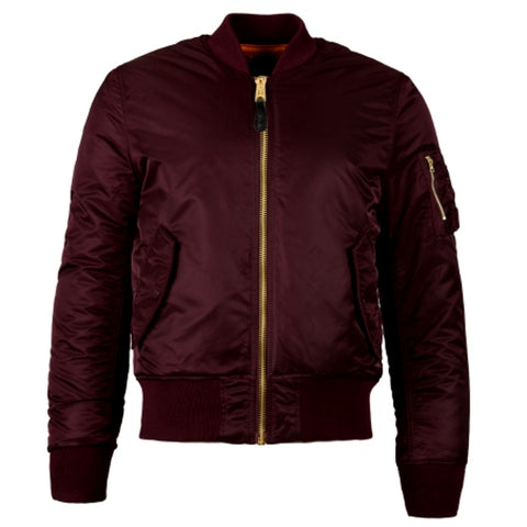 ALPHA INDUSTRY MA-1 SLIM -BURGUNDY