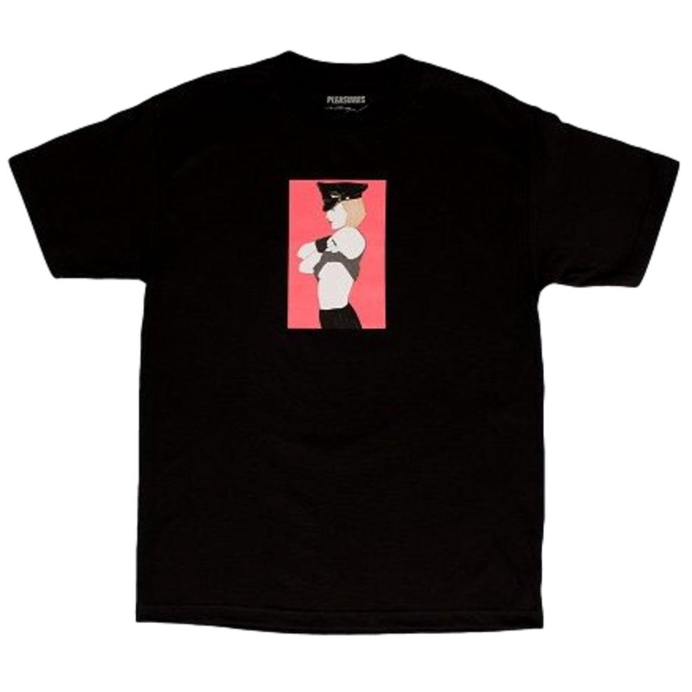 PLEASURES ARRESTED T-SHIRT -BLACK