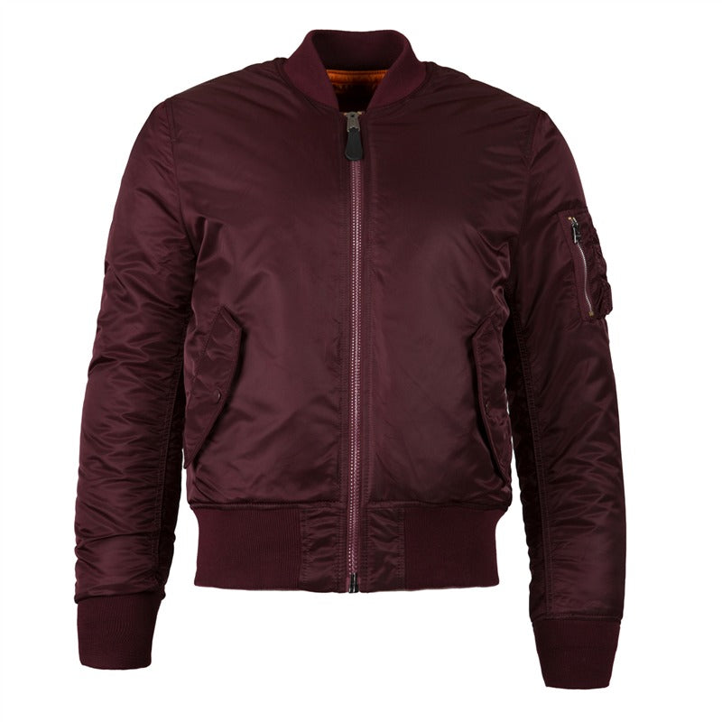 ALPHA INDUSTRY MA1 SLIM FIT -BURGUNDY