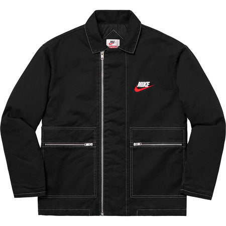 SUPREME NIKE? ZIP WORK JACKET -BLACK