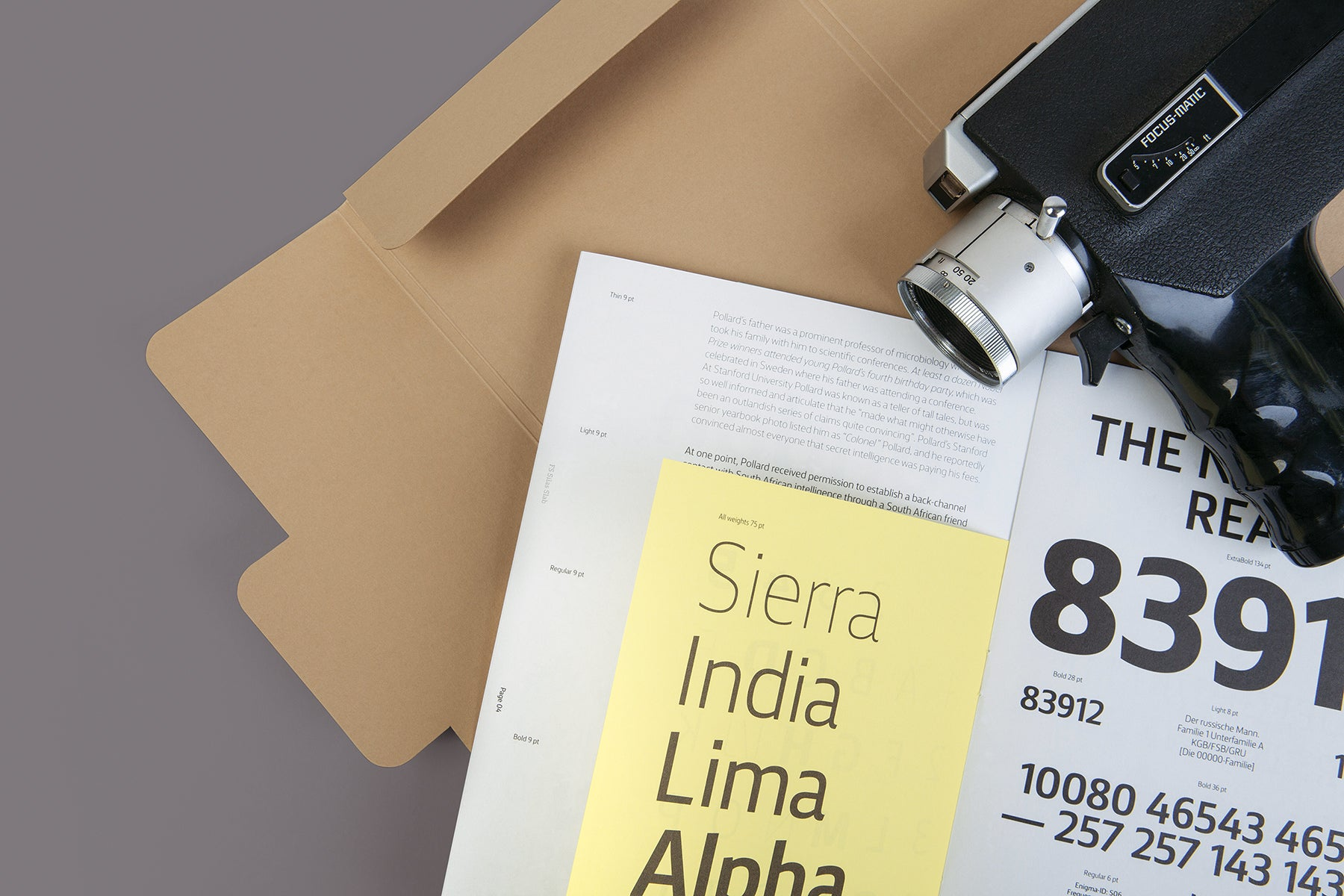 FS Silas Specimen | Inspired by dossiers, secret files and classic type specimens of the 1950s and 60s
