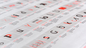 Type Notes Typography Terms Poster by Fontsmith