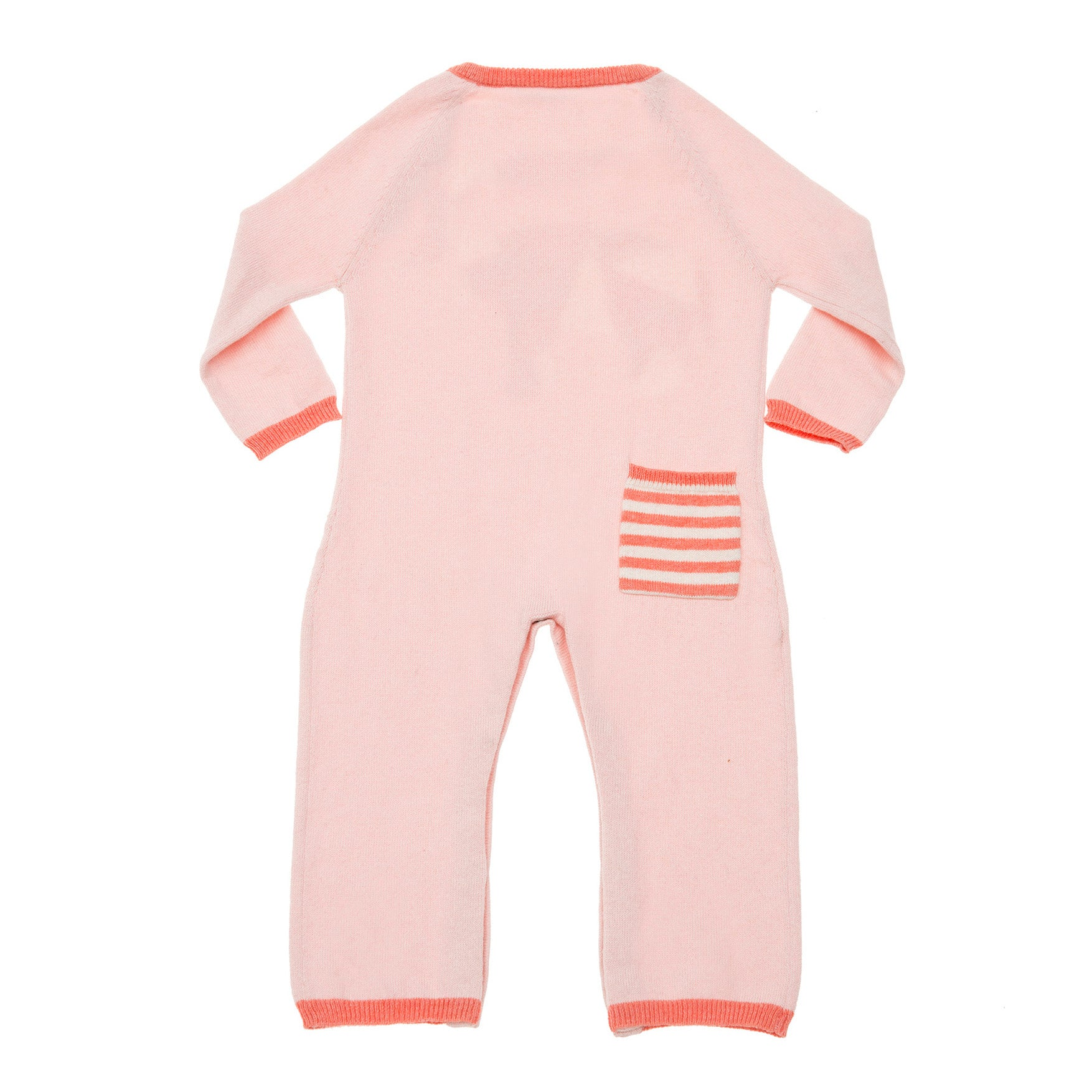Geometric Elephant Coverall Pink