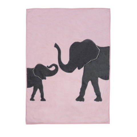 Elephant Blanket/Playmat - Pink