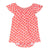 Strawberry baby dress with attached onesie tee underneath