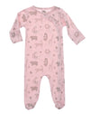 pink soft pima cotton infant coverall