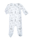 white soft pima cotton infant coverall