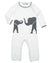 ivory and grey classic cashmere elephant coverall