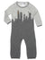 new york city skyline grey coverall with classic new york buildings and monuments
