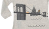 detail of brooklyn bridge coverall graphic