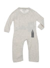 back detail of grey infant brooklyn bridge coverall