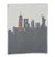 new york skyline blanket in grey with all new york monuments