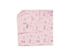 folded with corner pink soft pima cotton infant blanket