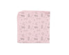 pink soft pima cotton infant blanket folded