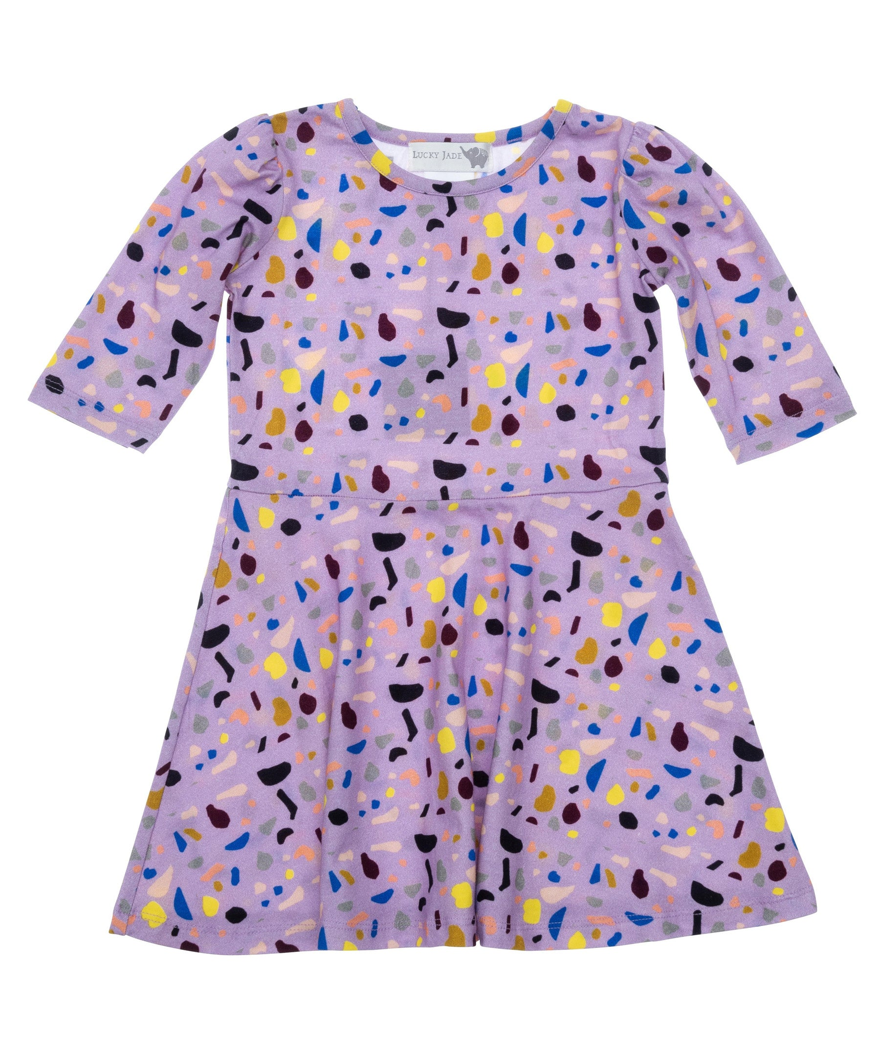 Terrazzo Shapes Bubbly Dress