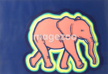 A print of an elephant