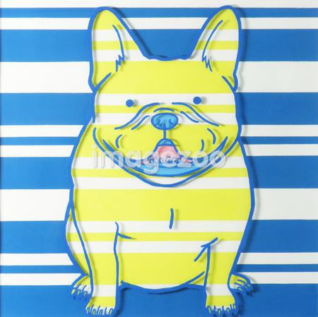 A print of a French Bulldog