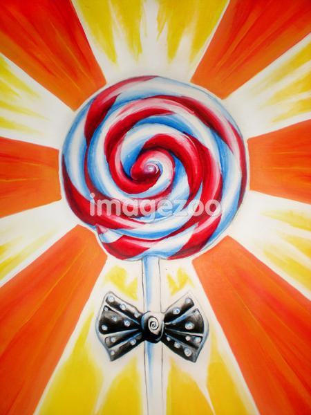 Lollipop with a bow