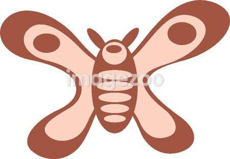 Cartoon drawing of a butterfly
