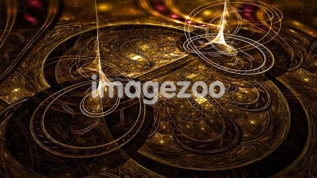 Gold and brown abstract digital background